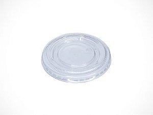 TAMPA PLAST TRANSP C/ FURO COPO PAPEL 330ml C/ 50UN (TPF 79 PET)