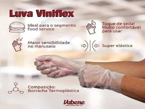 LUVA VINIFLEX S/ PO (VABENE) CX C/100UN (TAM. G)