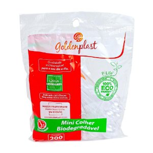 MEXEDOR P/ CAFE COLHERINHA BIODEGRADAVEL CRISTAL (GOLDENPLAST) PCT C/200un