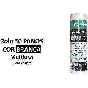 PANO MULTIUSO ROLO 25mts X 28cm (INOVEN) BRANCO