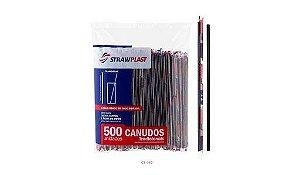 CANUDO SUCO SACHE PRETO (CS-332 STRAWPLAST) PCT C/500un