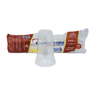 COPO DESC. 550ml PP TRANSP. LISO (CPM-550) (CRISTALCOPO) CX C/1000un