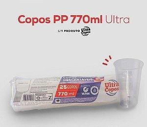 COPO DESC. 770ml PP TRANSP. LISO (ULTRA) CX C/500un