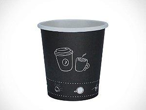 COPO PAPEL 120ml IMPRES. CAFE PRETO - PCT C/ 25 UN