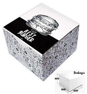 CAIXA BOX HAMBURGÃO IMPRESSO (C/ 100)
