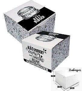 CAIXA BOX HAMBURGUER IMPRESSO (C/ 100)