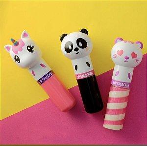 LIPSMACKER - Kit com 3 unidades - Lippy Pals - Unicórnio / Panda / Gato