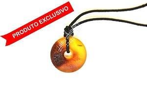 Amuleto Pingente de âmbar para adulto - mel, conhaque rosca bruto