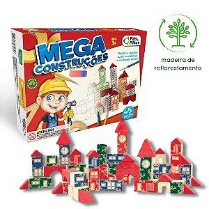 Brinquedo Educativo Mega Construções 45 peças - Pais & Filhos