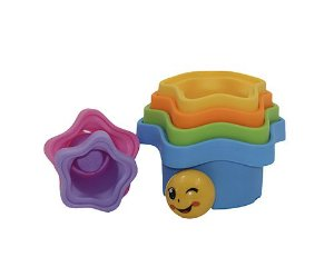 Kit Brinquedo Formas Didático Divertido para Empilhar - 7 peças