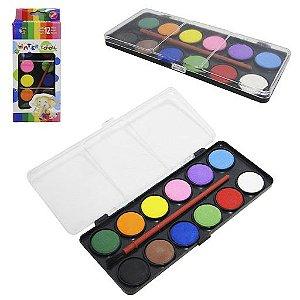 Conjunto Aquarela 12 cores Water Colours