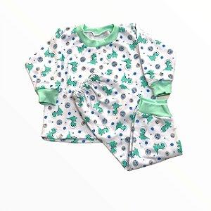 Pijama Infantil Moletinho Dino Astronauta