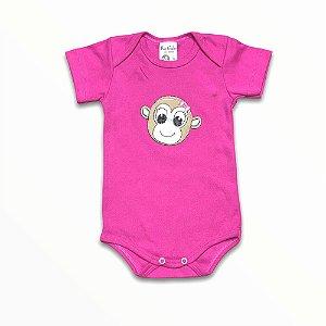 Body Bebê Manga Curta Macaquinha Molly
