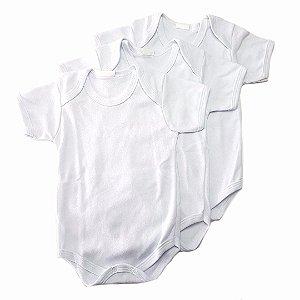 Conjunto de 3 bodies básicos brancos - Manga Curta