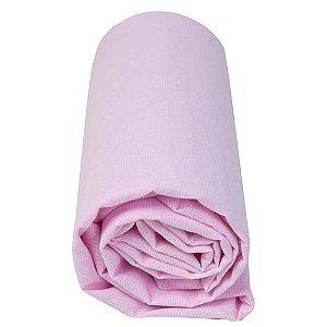 Lençol Avulso com Elástico  tamanho americano Rosa 1,60 X 1 M