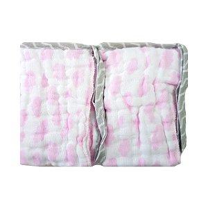 Paninho de Boca Soft  2 unidades- Nuvens Rosa
