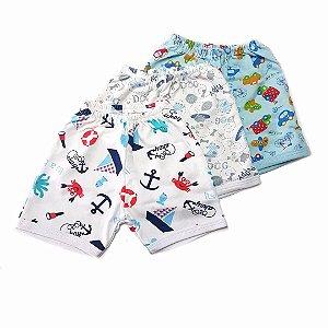 Kit de 3 Shorts Estampados Menino