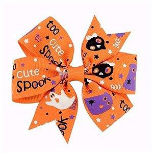 Laço Halloween Laranja - Boo