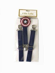 Suspensórios Infantil Capitão America