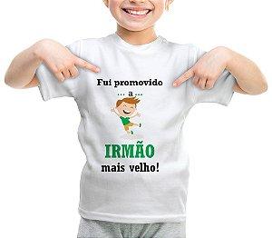 Camiseta ou Body - Promovido a Irmão Mais Velho Verde