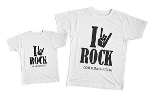 Kit camiseta e Body Tal Mãe, Tal Filha - Rock
