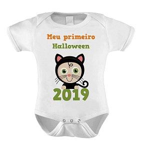Body ou Camiseta Divertido de Halloween- Meu Primeiro Halloween