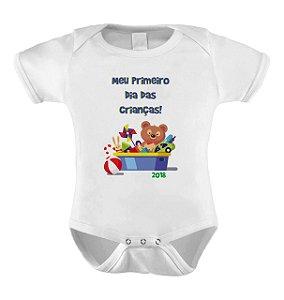 Body ou Camiseta Divertido - Meu Primeiro dia das Crianças Brinquedos