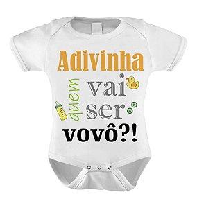 Body ou Camiseta Divertido - Adivinha quem vai ser Vovó?
