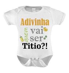 Body ou Camiseta Divertido - Adivinha quem vai ser Titio?