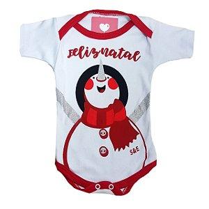 Body de Bebe de Natal - Feliz natal