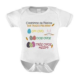 Body ou Camiseta Divertido - Coelhinho da Páscoa