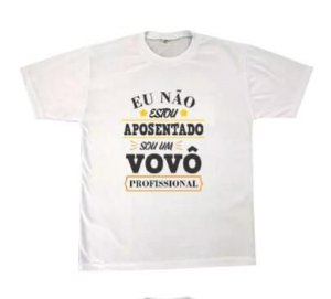 Camiseta personalizada Sou um vovô Profissional