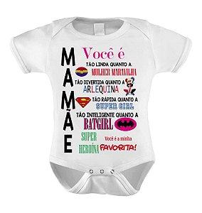 Body ou Camiseta Personalizada - Mãe Super Heróina