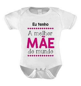 Body ou Camiseta Personalizada - Eu tenho uma Super Mãe Pink