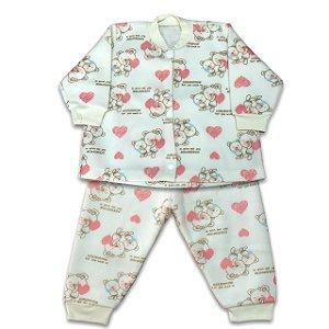 Pijama de Soft Infantil Ursinha Ana