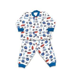 Pijama de Soft Infantil Carrinho