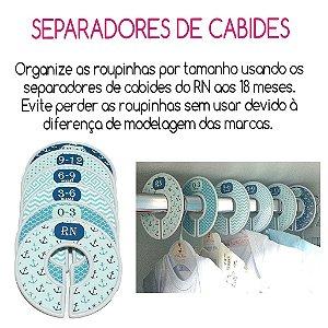 Conjunto de Separadores NAUTICO e  Kit de 6 Cabides de acrílico