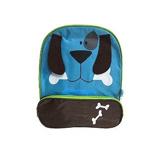 Mochila Infantil Bichinhos - Cachorro Azul