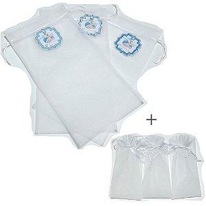Saquinhos de maternidade -6 unidades de menino ( 3 unidades com tag + 3 reserva)