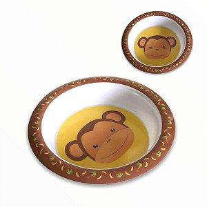 Tigela Bowl Refeição Infantil p/ Bebês e Crianças Macaquinho