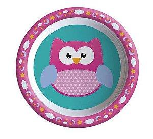 Tigela Bowl Refeição Infantil p/ Bebês e Crianças Corujinha
