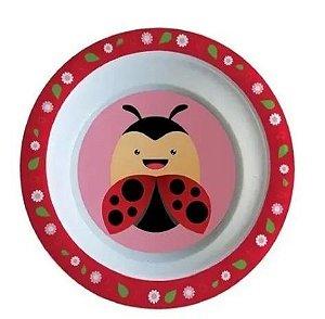 Tigela Bowl Refeição Infantil p/ Bebês e Crianças Joaninha