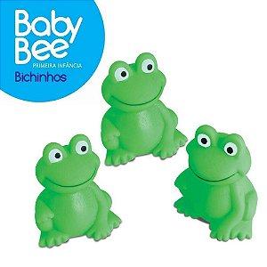 Kit com 3 Sapinhos de Borracha Para Banho Bebê  - Baby Bee