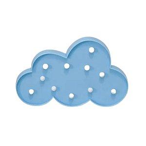Luminária de Nuvem Azul com Leds