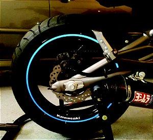 Friso refletivo liso 7mm p/ motos + Brinde com marca do fabricante