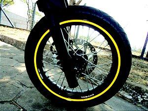 Friso refletivo liso 10mm p/ motos + Brinde com marca do fabricante