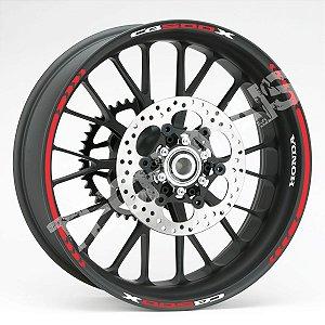 Fita de Roda Friso de Roda refletivos CB500X CB 500 X modelo Direcional frete grátis todo o Brasil