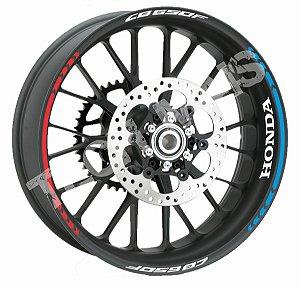 Fita de Roda Friso de Roda Refletivo Honda CB650F  Direcional Borda