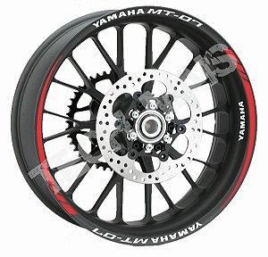Fita de Roda Friso de Roda Refletivo roda Yamaha MT-07 frete grátis Orbital
