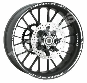 Fita de Roda Friso de Roda Refletivo roda Yamaha MT-07 frete grátis Orbital Duplo